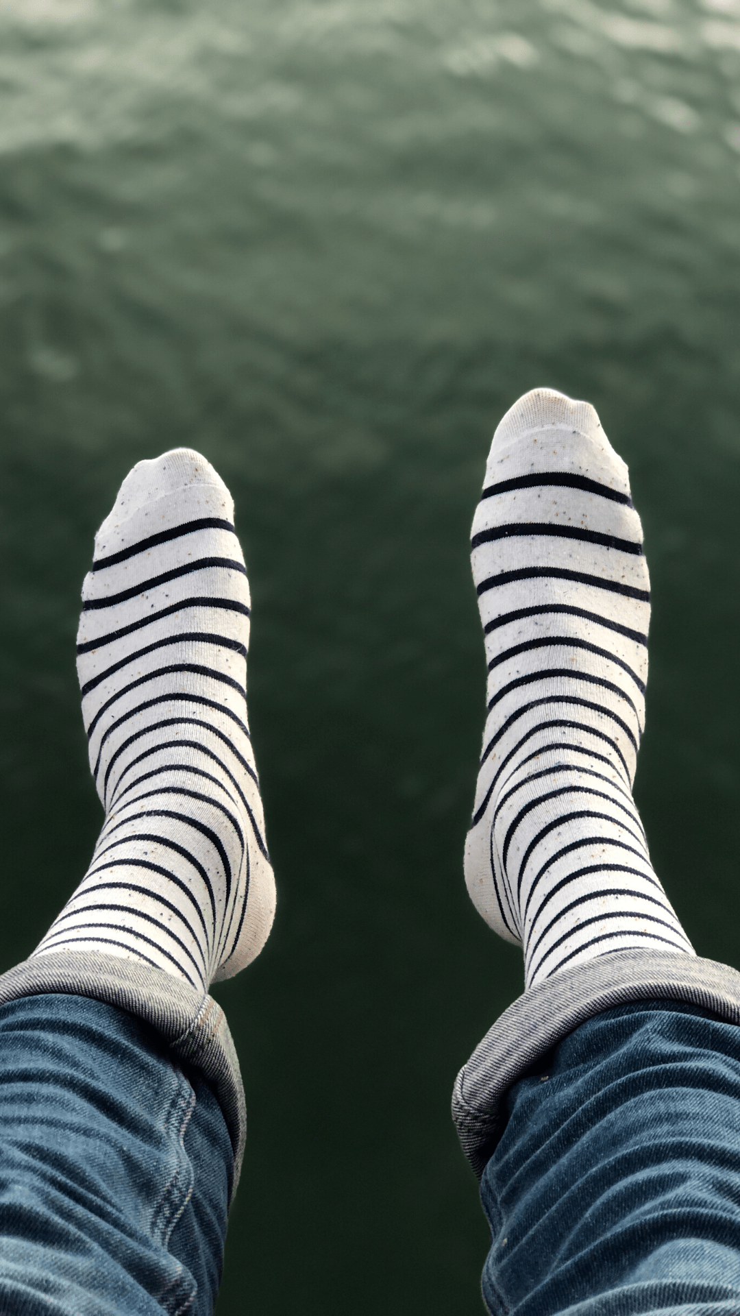 Photos de chaussettes blanches rayées made in france