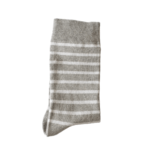 Photo des chaussettes rayées made in france gris