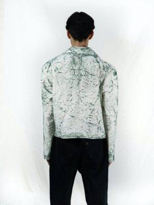 veste-homme-blanc-vert-coton-recycle-upcycling-dos-maison-genevieve-seva